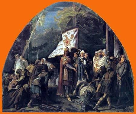 Carlo Magno abbatte l'Irminsul