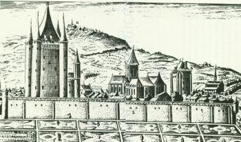 Cittadella del Tempio a Parigi. L'enclos des Templiers, che occupava un'area vastissima e i cui edifici erano separati l'uno dall'altro da campi coltivati, era una vera città nella città. Oggi non ne rimane traccia se non nella denominazione di una via parigina.