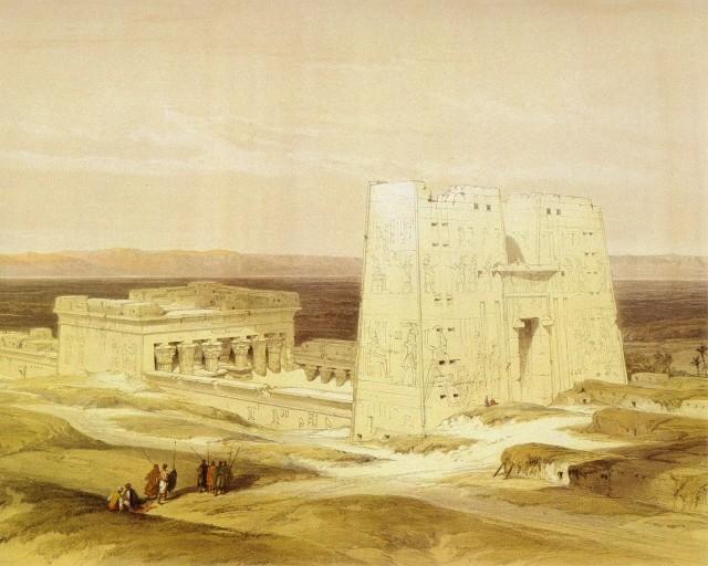 David Roberts - Il Tempio di Edfu