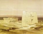 Tempio di Edfu. Disegno di David Roberts