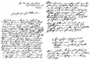 Lettera di presentazione di Kaspar Hauser.