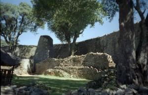 Interno delle mura della Great Enclosure di Grande Zimbabwe