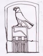 Stele re Wadij, compagno di Horus