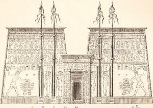 Tempio Edfu Disegno