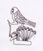 Falco Horus, signore di Edfu. Detaglio Paletta di Narmer.