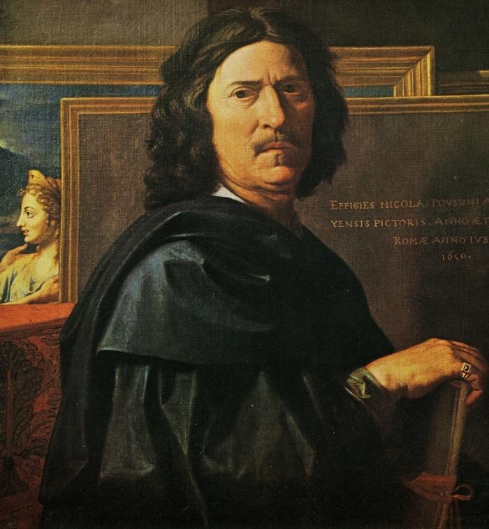 Nicolas Poussin , autoritratto, 1650 Louvre