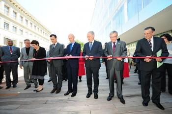 Inaugurazione del nuovo edifico della WTO il 30 giugno 2013.