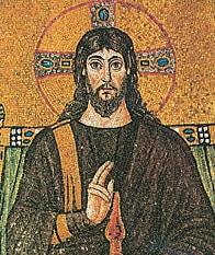 Gesù Cristo, mosaico di Ravenna