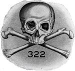 Emblema della società segreta Skull & Bones.