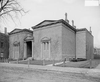 """Edificio della """"Tomb"""" all'Università di Yale. Foto storica."""
