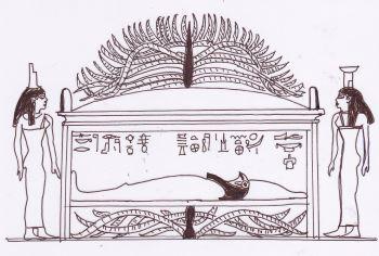 Tomba di Osiride, raffigurazione geroglifica di Dendera.
