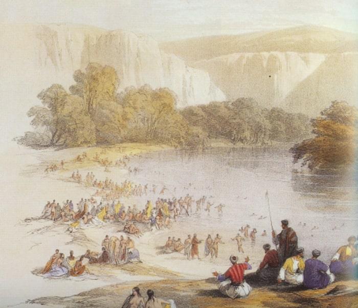 Veduta del fiume Giordano, David Roberts.