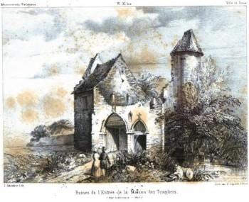 Disegno del 1843. Una delle case templari più ben conservate.