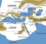 Mappa del mondo secondo Erodoto.