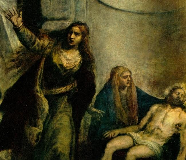 Pietà di Tiziano. Dettaglio: Maria Maddalena.