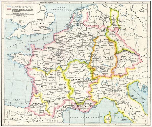 Regno dei Merovingi in Europa