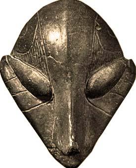 Maschera della cultura Vinca, Predionica. 4500-4000 a.C. Foto Sabina Marineo