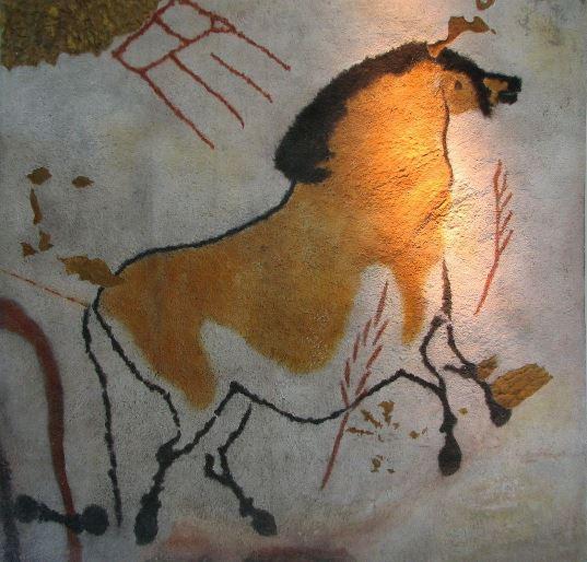 Grotta di Lascaux, cavallo. Dominio pubblico