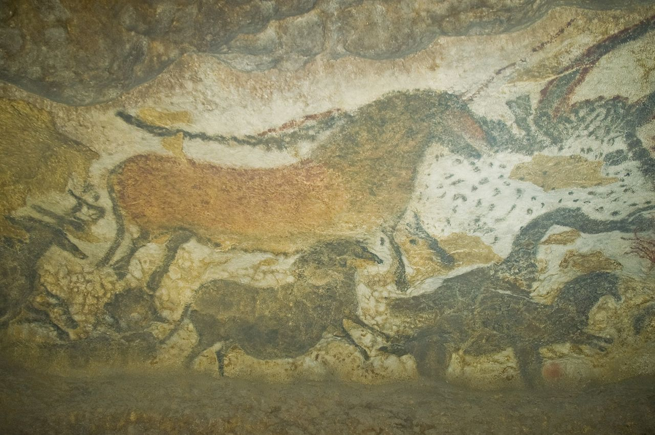 Wildpferde und Auerochse, LASCAUX Foto: Jack Versloot - originally posted to Flickr as Lascaux II. CC-BY-SA-2.0