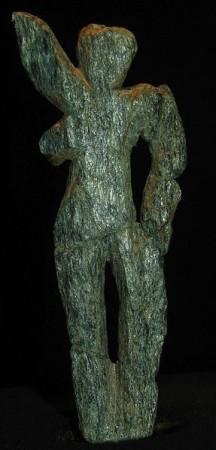 "Venere di Galgenberg, 35.000 anni fa. Austria. Fatta di serpentino misura 7,2 cm e pesa 10 g. Foto. UrheberDon Hitcock, Creative-Commons-Lizenz ""Namensnennung – Weitergabe unter gleichen Bedingungen 3.0 Österreich"""