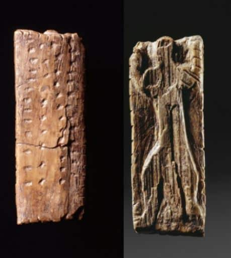 L'Adorante, avorio di mammut, 3,8 cm; 1,4 cm; 0,5 cm., 40.000-35.000 anni fa, Sito ritrovamento Blaubeuren-Weiler Foto copyright: Landesmuseum Württemberg, Stuttgart (Foto: H. Zwietasch) CC BY-NC-SA