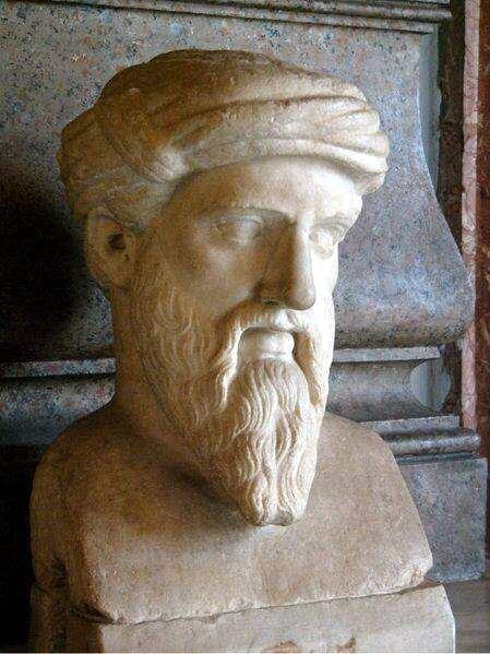 Busto di Pitagora. Copia romana di originale greco, Musei Capitolini, Roma. Foto galilea CC BY-SA 3.0