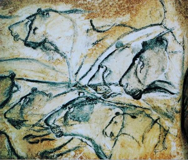 Lions_painting,_Chauvet_Cave_(museum_replica)-514