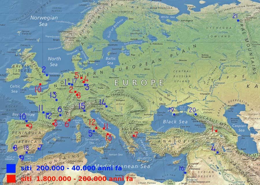 Il popolamento dell'Europa prima dell'Homo sapiens. Copyright Sabina Marineo
