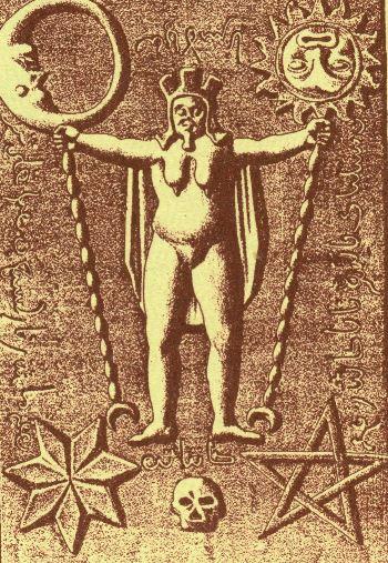 Gli scrigni segreti dei Templari. Immagine tratta dal libro di Jules Loiseleur. Interessante la corona sul capo che ricorda la dea Cibele.