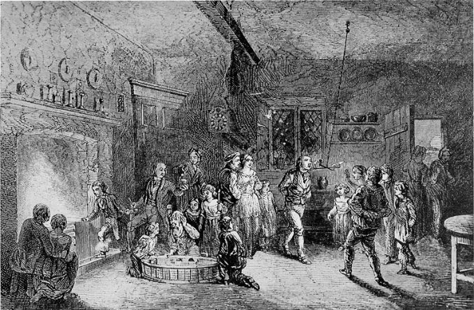 Un disegno antico da un libro inglese su Halloween. Dominio pubblico.