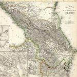 Mappa del Caucaso disegnata da J. Grassl, 1856.