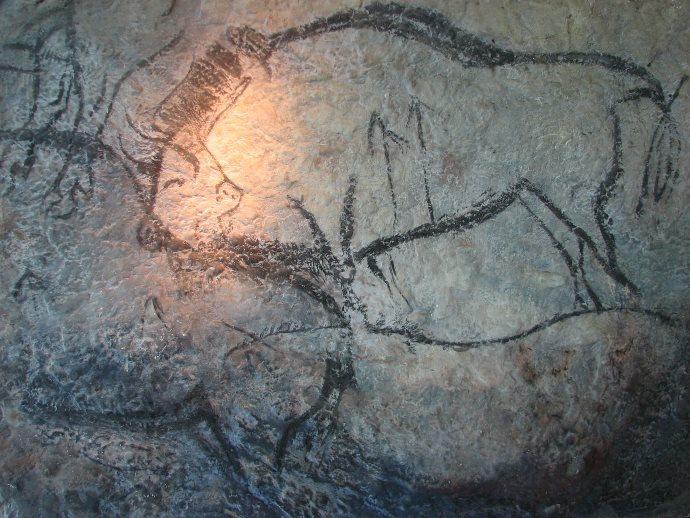 Pittura rupestre della grotta di Niaux, bisonte.
