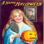 Halloween. Cartolina storica di inizio Novecento. 1904. Dominio pubblico.