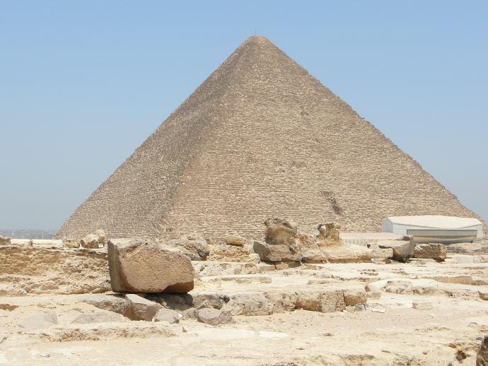 Piramide di Cheope vista da sud-ovest.