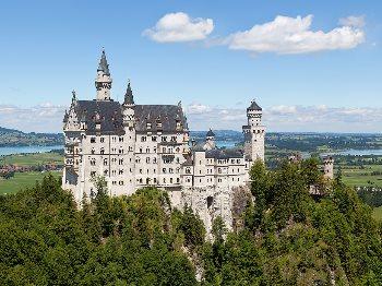 Castello di Neuschwanstein, il progetto forse più ambizioso di re Ludwig II di Baviera. Foto di Thomas Wolf, www.foto-tw.de -CC-BY-SA-3.0