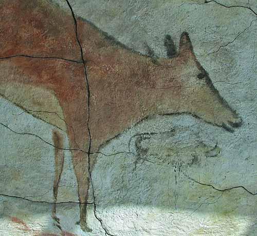 Grotta di Altamira, replica di un capriolo. Dominio pubblico
