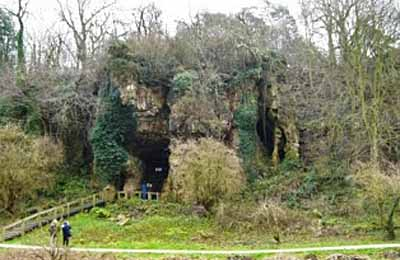 Cresswell Crags, Grotta Church Hole. Dominio pubblico
