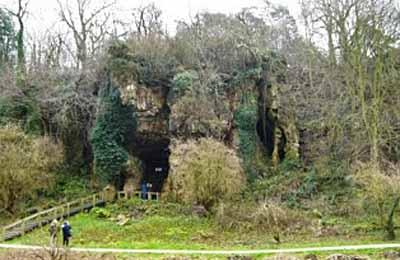 Cresswell Crags, Grotta Church Hole. Dominio pubblico