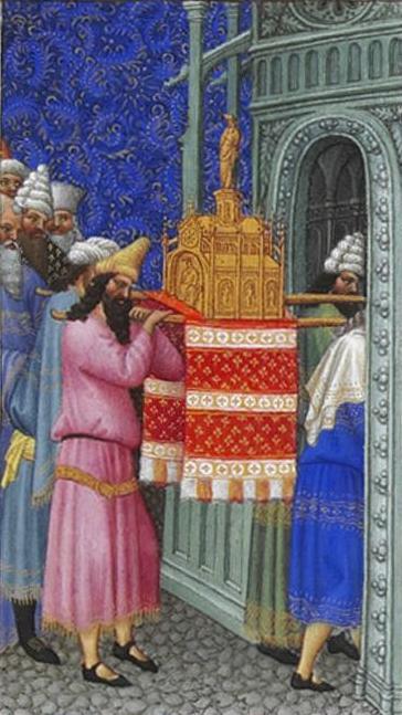 L'Arca dell'Alleanza viene portata nel tempio.