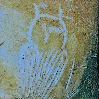 Grotta di Chauvet. Replica di civetta. Incisione. Dominio pubblico.