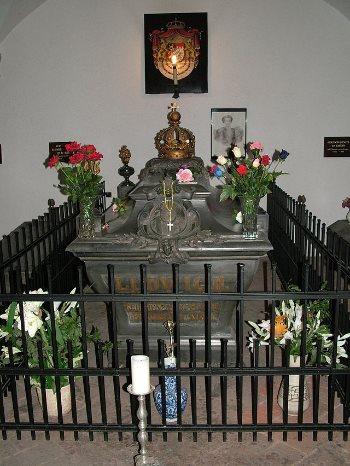 Tomba di Ludwig II di Baviera. Dominio pubblico
