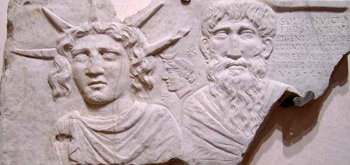 Sol Invictus e Jupiter Dolicenus, II sec. d. C., Terme di Diocleziano. Dominio pubblico.