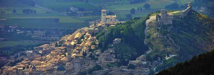 Veduta di Assisi.