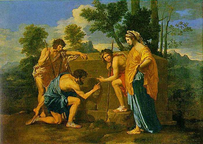 I pastori d'Arcadia, Nicolas Poussin, ca. 1640. Museo del Louvre.