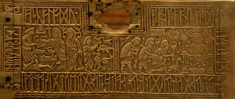 Runenkästchen-von-AuzonMichel-walAnglo-saxon-box-made-of-whales-bonfirst-half-of-the-8th-century-ADWieland-the-smith-and-Adoration-of-the-Magi.-British-MuseumCC-BY-SA-3.0