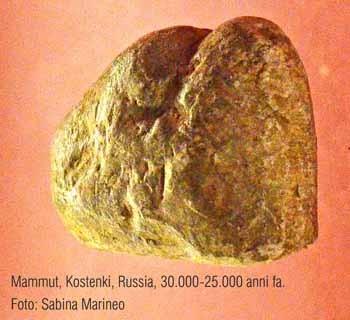 mammut, Kostenki. Russia. 32.000 anni fa. foto - sabina marineo