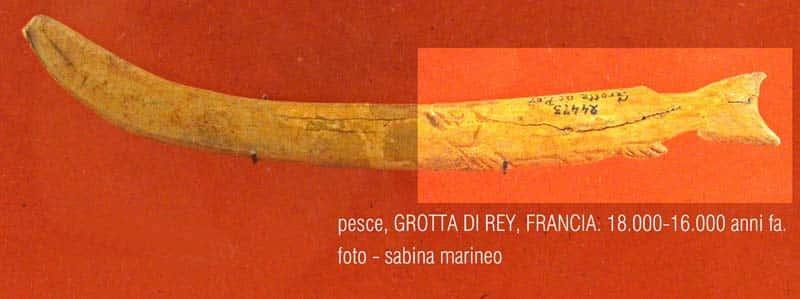 pesce, Grotta di Rey, Francia. 18.000 - 16.000 anni fa. foto - sabina marineo