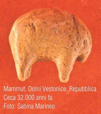 mammut, Dolni Vestonice, Repubblica Ceca. 32.000 anni fa. foto - sabina marineo