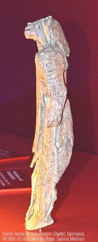 l'uomo-leone di Hohlenstein-Stadel, Germania. 40.000 - 35.000 anni fa. foto sabina marineo
