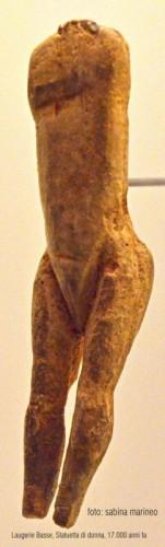 statuetta di donna, Laugerie basse, Francia. 17.000 anni fa. foto - sabina marineo